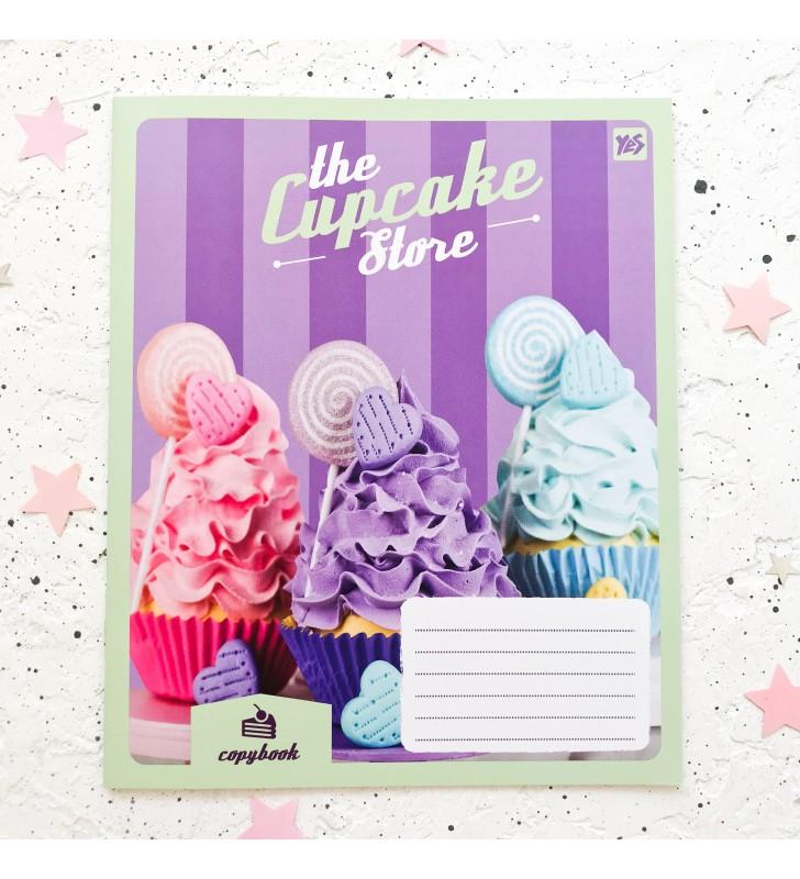 "Тетрадь =18 ""Cupcake store"" violet"