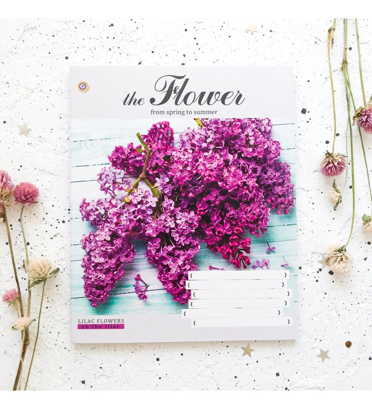 """Тетрадь =96 """"The flower"""" lilac flowers"""