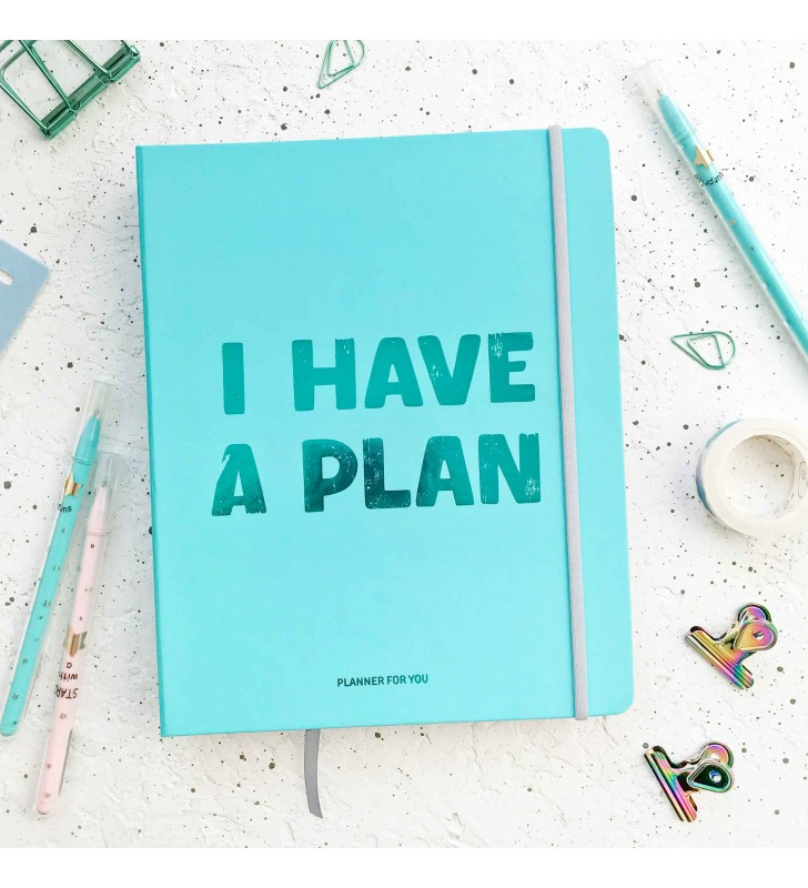 """Недельный планер """"I have a plan"""" бирюзовый"""