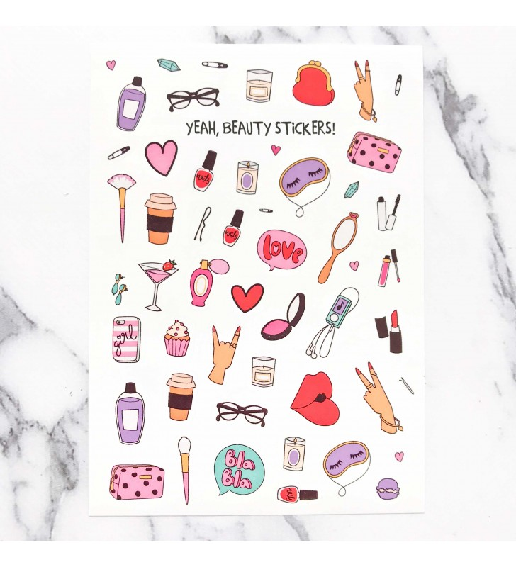 "Наклейки ""Yeah beauty stickers"""
