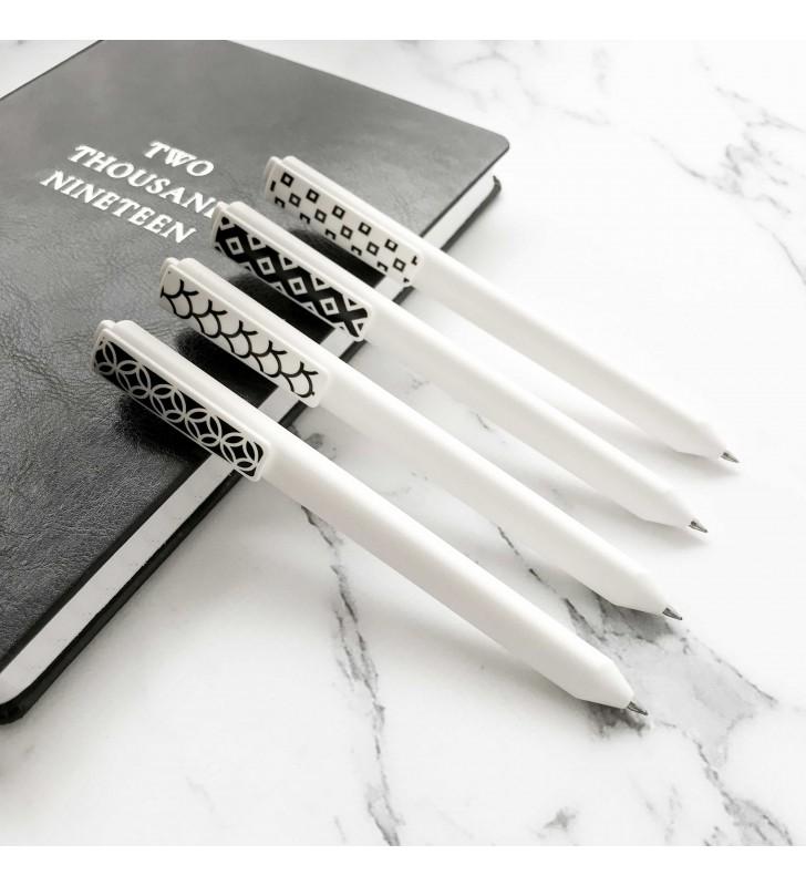 """Ручка """"Черно-белый узор"""""""