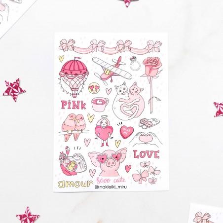 "Наклейки ""Pink love"""