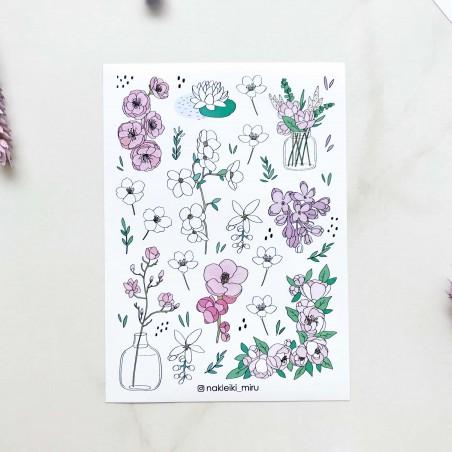 """Наклейки """"Spring flowers"""""""