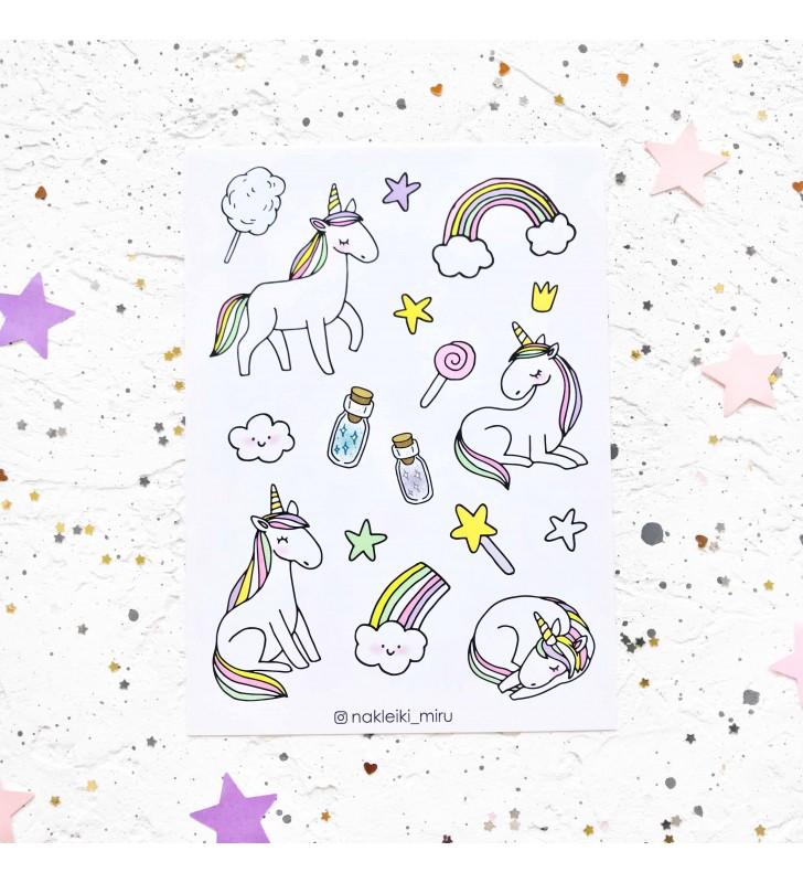 """Наклейки """"Magic unicorn"""""""