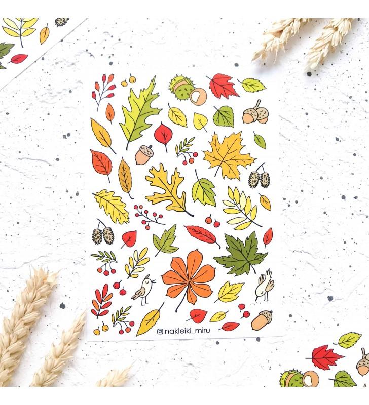 """Наклейки """"Осенние листья"""""""