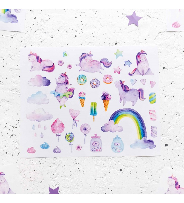 "Наклейки ""Cotton candy unicorn"""