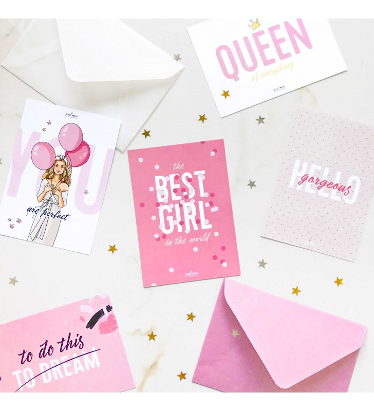 "Набор открыток ""For best girl"""