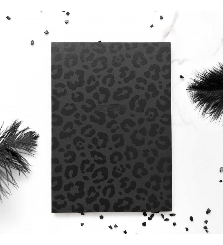"""Скетчбук с черными листами """"Total black"""" леопард"""
