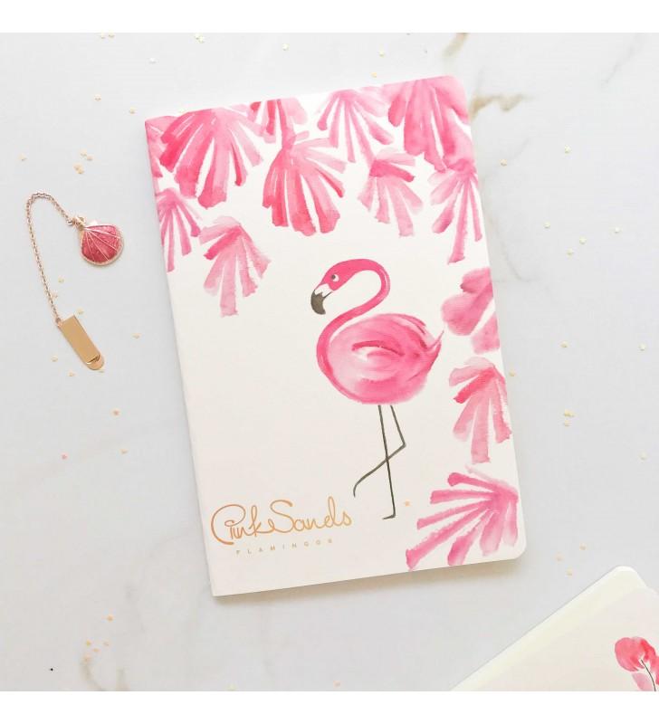 """Блокнот в линию """"Flamingos"""" plants"""