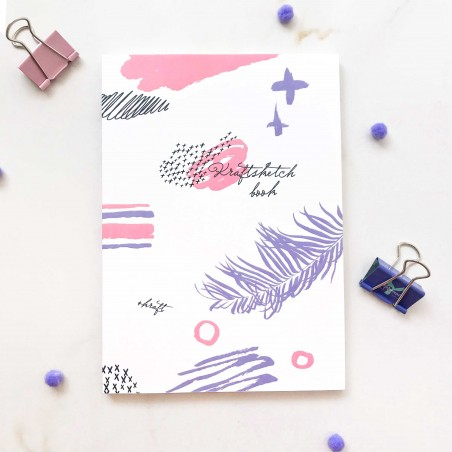 "Блокнот в точку ""Turquoise"" purple"