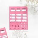 """Наклейки """"Plan"""" розовые"""