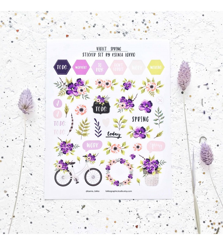 "Наклейки ""Violet spring"""