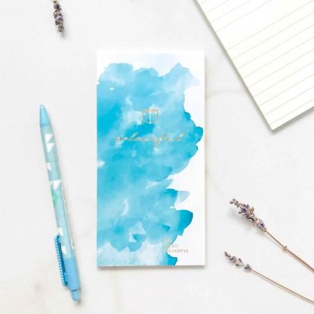 """Блокнот на склейке """"Watercolor fantasy"""" голубой"""