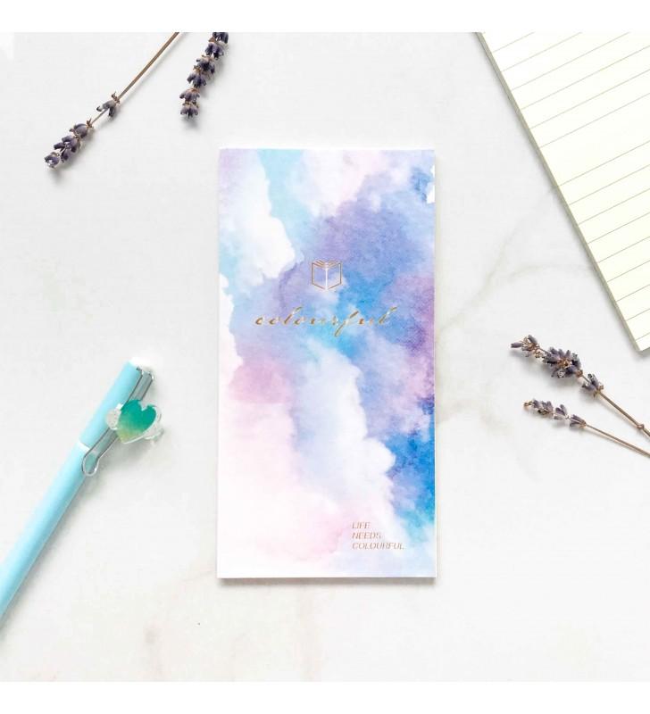 """Блокнот на склейке """"Watercolor fantasy"""" фиолетовый"""