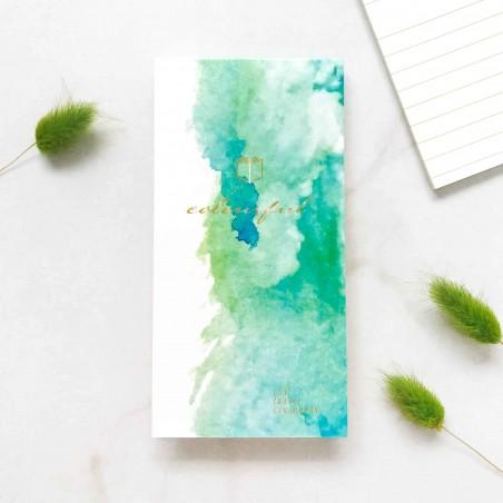 """Блокнот на склейке """"Watercolor fantasy"""" зеленый"""