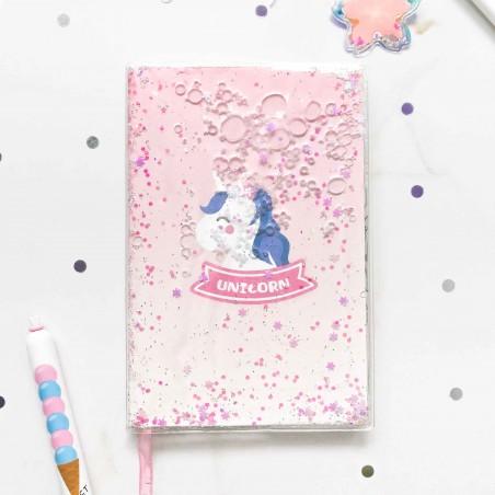 """Ежедневник """"Pink Unicorn"""" с жидкостью"""
