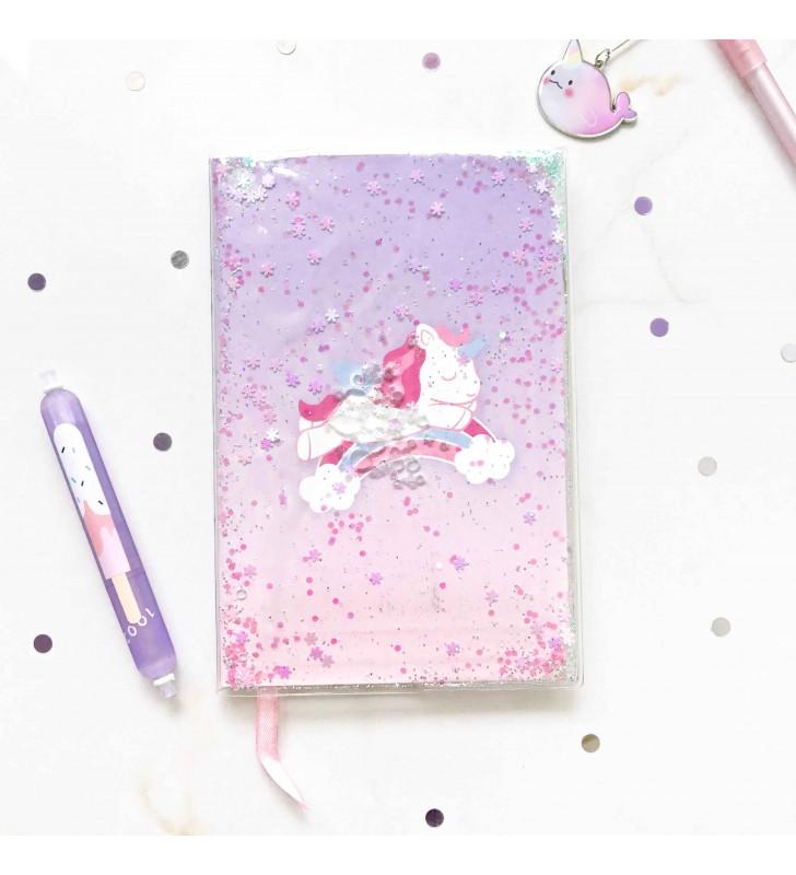 """Недельный планер """"Violet Unicorn"""" с жидкостью"""