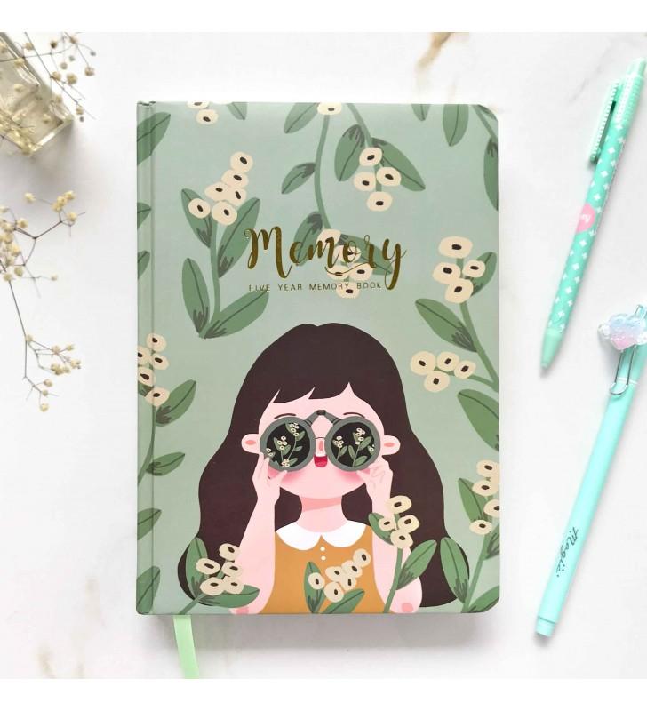 """Личный дневник """"Memory Book"""" girl green"""
