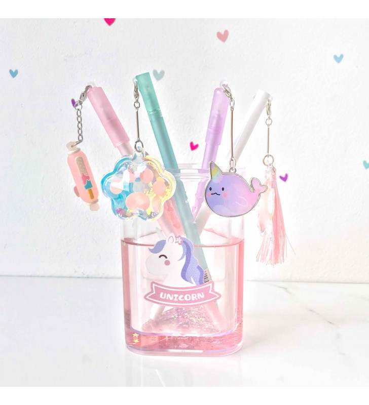 "Подставка для ручек ""Rainbow and unicorn"" pink"