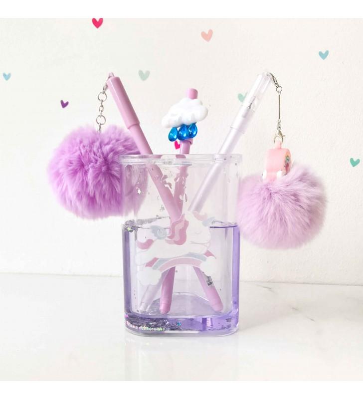 """Подставка для ручек """"Rainbow and unicorn"""" violet"""