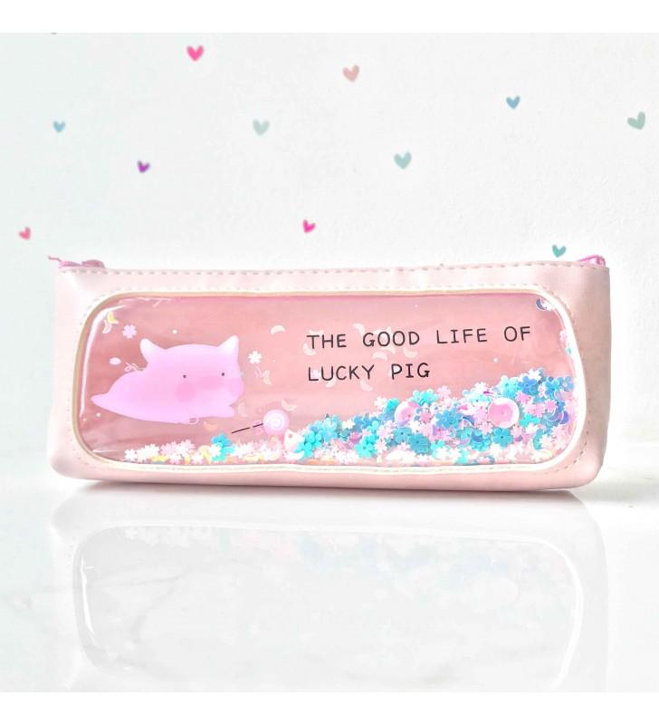 """Пенал """"Lucky pig"""" pink"""