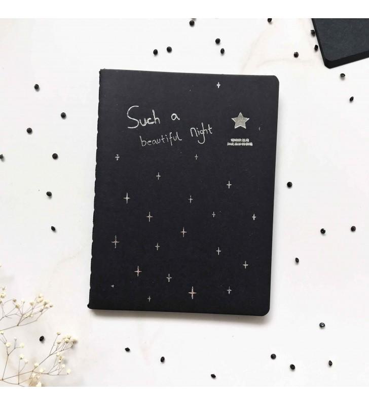 """Мини-блокнот """"Star"""" с черными страницами"""