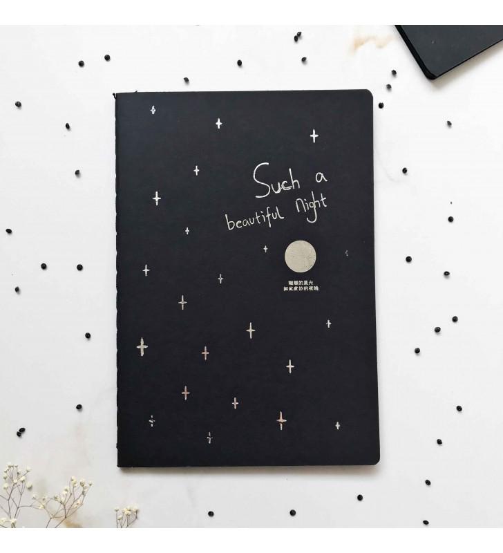 """Блокнот """"Moon"""" с черными страницами"""