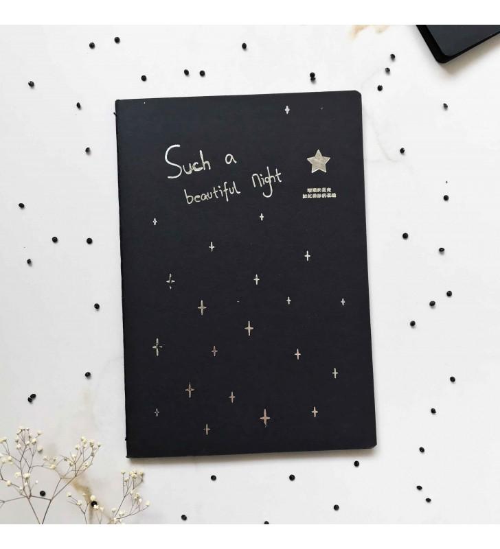 """Блокнот """"Star"""" с черными страницами"""