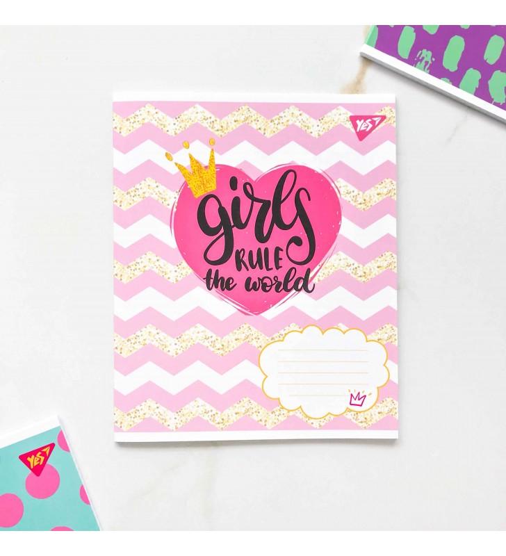 """Тетрадь #48 """"Girl power"""" розовый"""