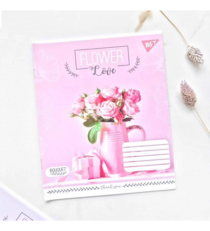 """Тетрадь =18 """"Flower"""" розовая роза"""