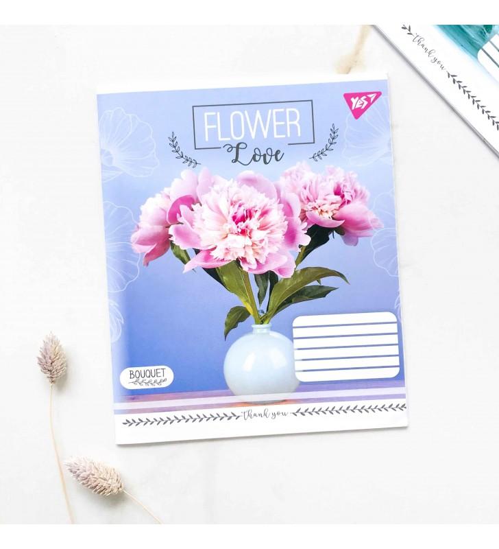 """Тетрадь =18 """"Flower"""" пион"""