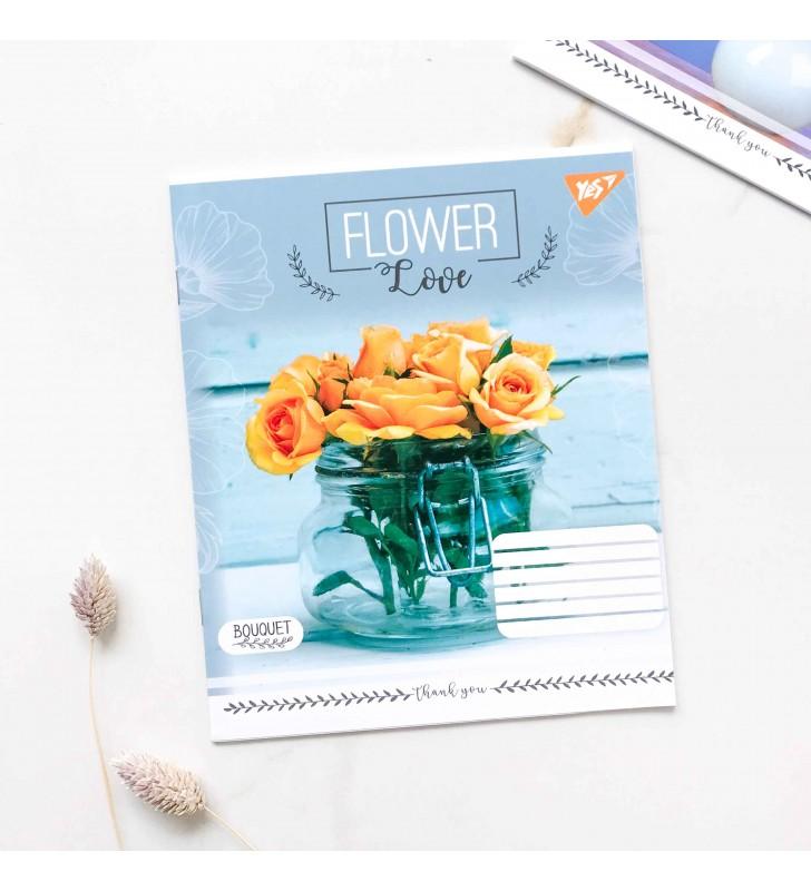 """Тетрадь =18 """"Flower"""" желтая роза"""
