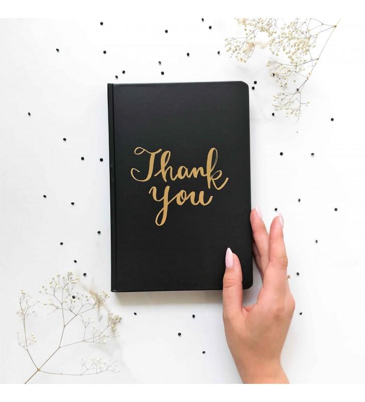 """Блокнот """"Simple"""" thank you с черными страницами"""
