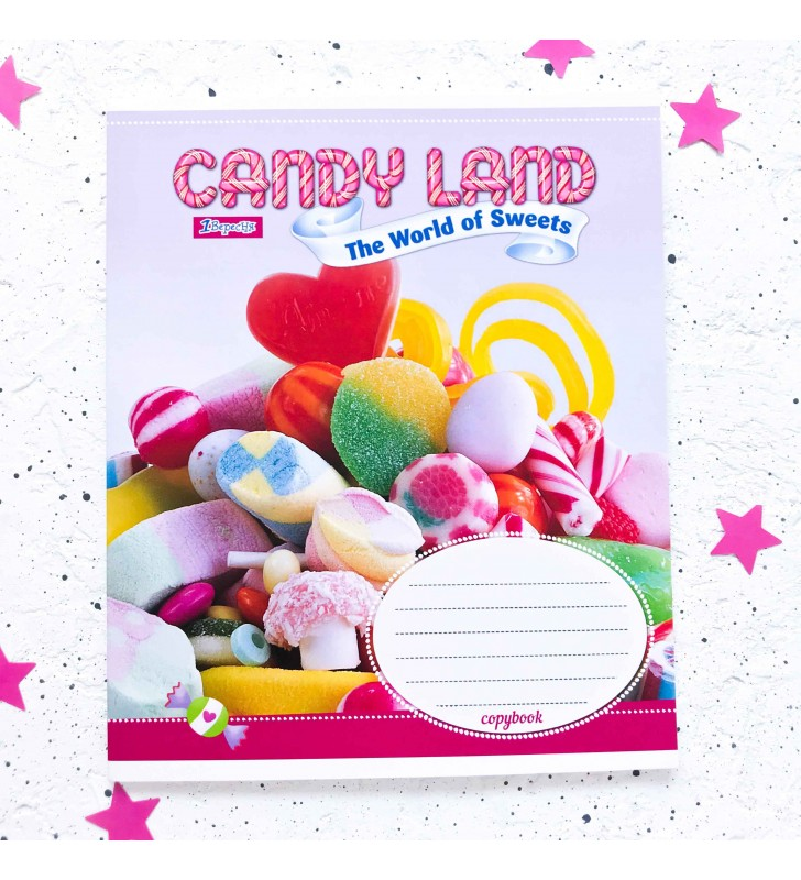 "Тетрадь #18 ""Candy land"" candys"