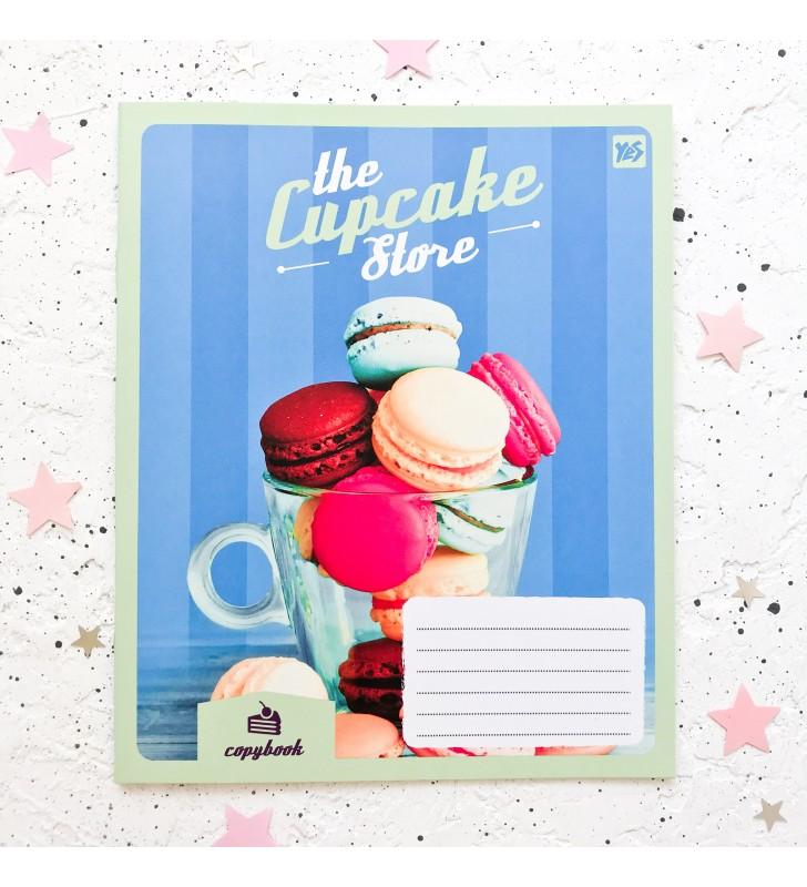 "Тетрадь #18 ""Cupcake store"" makaron"