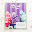 "Тетрадь #18 ""Cupcake store"" cupcakes violet"