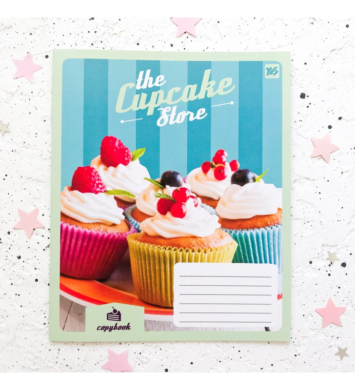 "Тетрадь #18 ""Cupcake store"" cupcakes blue"