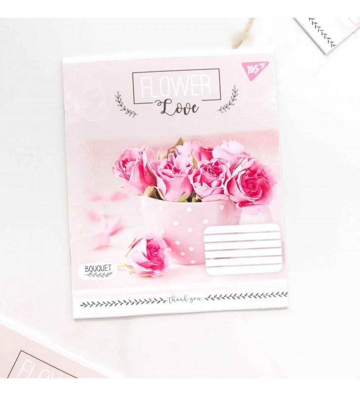 """Тетрадь =18 """"Flower"""" розовый букет"""