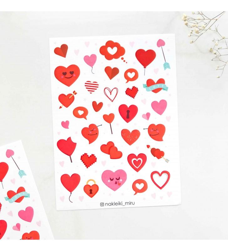 """Наклейки """"Hearts"""""""
