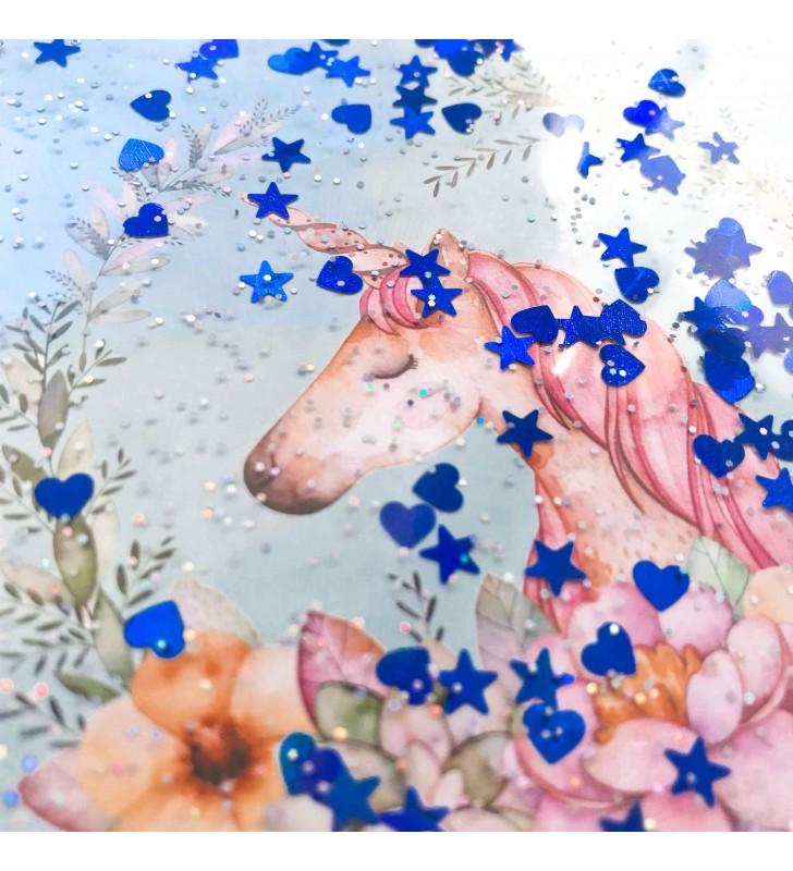 """Недельный планер с жидкостью """"Dreaming unicorn"""" blue"""