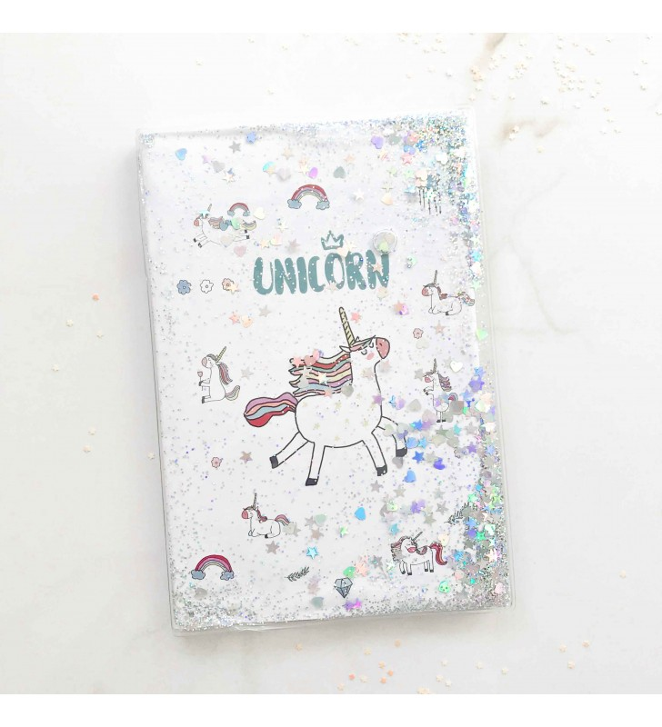 """Недельный планер с жидкостью """"Dreaming unicorn"""" white"""