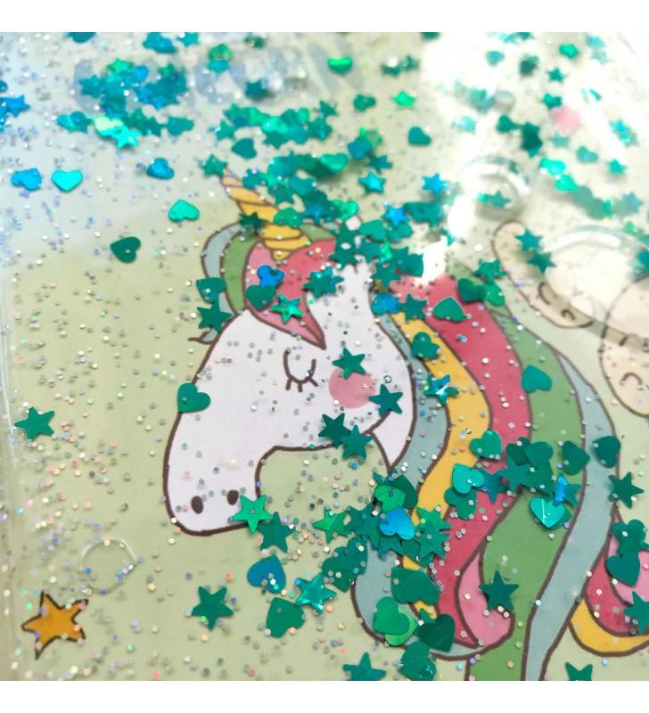 """Недельный планер с жидкостью """"Dreaming unicorn"""" mint"""