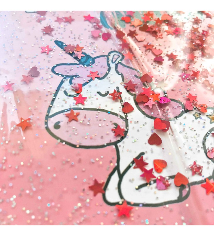 """Недельный планер с жидкостью """"Dreaming unicorn"""" pink"""