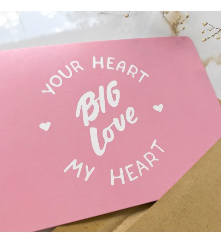 "Открытка ""Big love"""