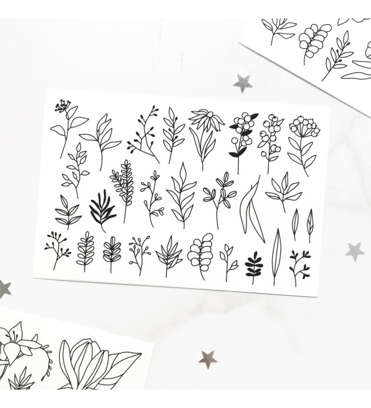 "Наклейки ""Flowers"" 9"