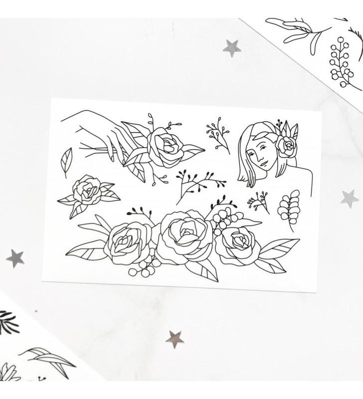 "Наклейки ""Flowers"" 4"