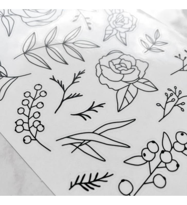 "Наклейки ""Flowers"" 5"