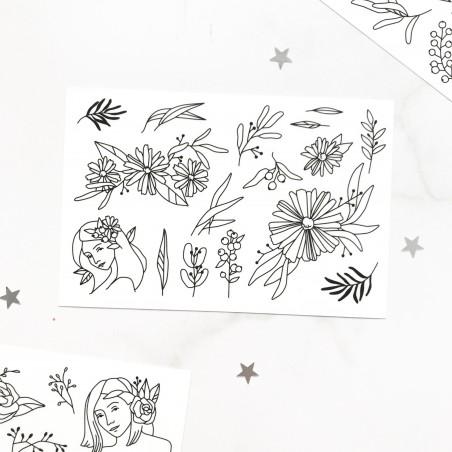 "Наклейки ""Flowers"" 3"