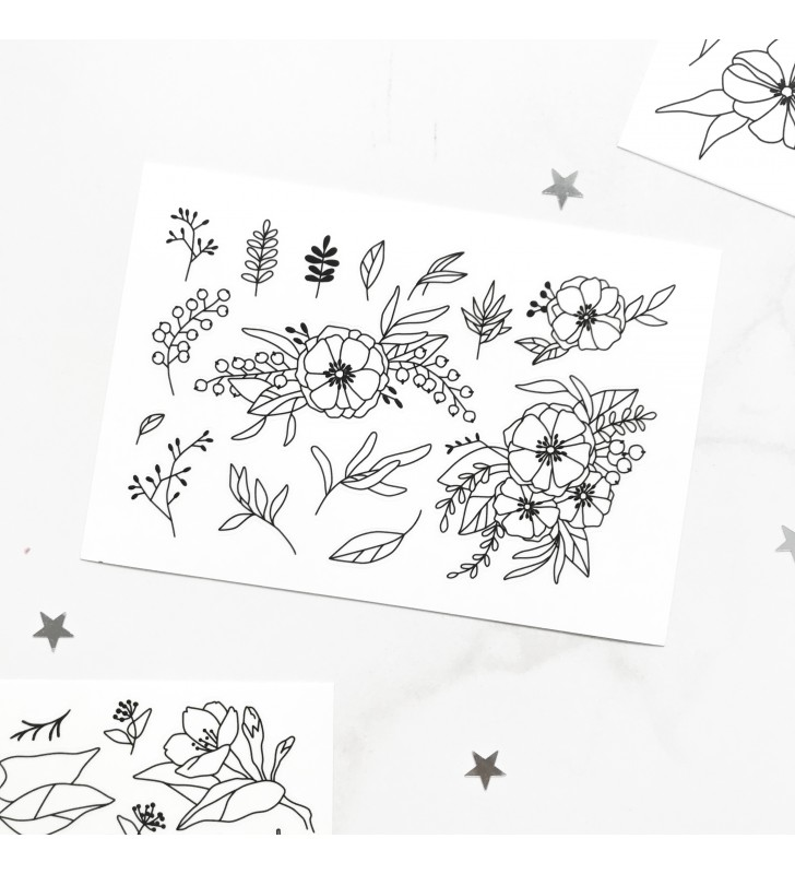 "Наклейки ""Flowers"" 1"